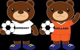 beren voetbalteam duitsland holland vector