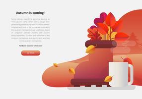 Fall Festival Seizoensgebonden UI Evenement Illustratie