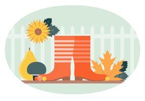 Vector herfst elementen en illustratie