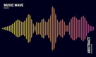 muziek abstracte achtergrond gekleurd in roze en gele gradaties vector