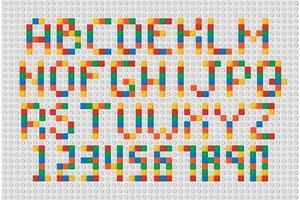 alfabet kubus kleurenset vector