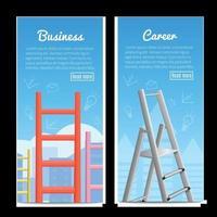 carrière ladders realistische banners vector illustratie