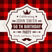 Verjaardag uitnodiging Buffalo geruite stijl vector