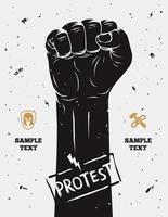vuist geheven uit protest vector
