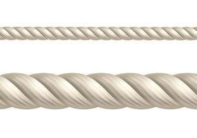beige touw op wit vector