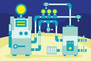 fabrieksindustrie vectorillustratie vector