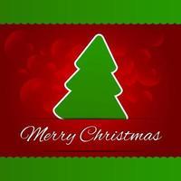 vrolijk kerstfeest belettering rode boom achtergrond vector