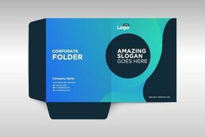 elegante zakelijke folder sjabloon vector