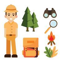 jungle ontdekkingsreiziger elementen vector pack