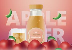 Apple Cider Slush verfrissend energiedrankje vector