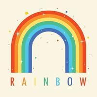 concept van een kleurrijke regenboog vector