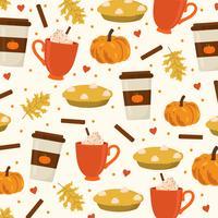 Pumpkin Spice Vector achtergrond