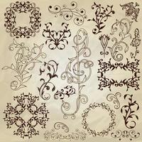vintage designelementen vector