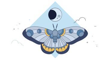 Nachtvlinder donkere vector