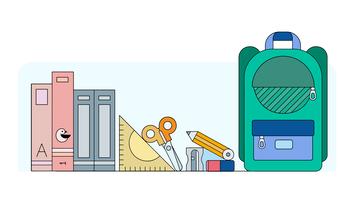 school items vector