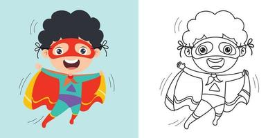 lijntekeningen voor kinderen kleurplaten pagina vector