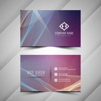 Sjabloon voor abstract kleurrijke elegante golvende visitekaartjes