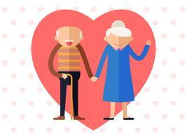 Unieke grootouders vectoren