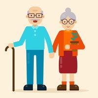 Gelukkige grootouders Vector