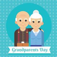 Grootouders dag vector ontwerp