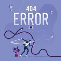 concept 404-foutpagina of bestand niet gevonden voor webpagina vector