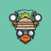 jungle ontdekkingsreiziger vector