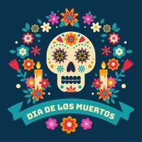 Dia De Los Muertos Vector Achtergrond