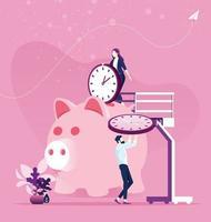 planning van tijdbeheer. bespaar tijd concept vector