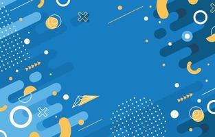 platte abstracte blauwe achtergrond vector