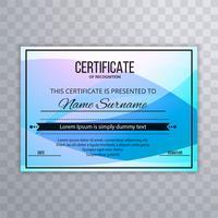 Abstracte kleurrijke certificaatsjabloon vectorillustratie