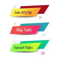 Abstracte kleurrijke verkoopbanners geplaatst ontwerp vector