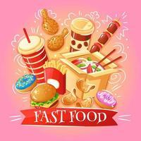 fastfood illustratie vector illustratie
