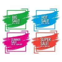 Mooie verkoop label collectie decorontwerp vector