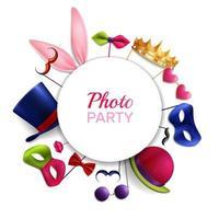 photo booth party achtergrond vectorillustratie vector