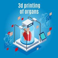 organen 3d afdrukken achtergrond vectorillustratie vector