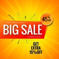Grote verkoop banner achtergrond kleurrijke sjabloon vector