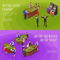 casino isometrische banners vector illustratie