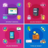 financiële technologie platte concept vectorillustratie vector