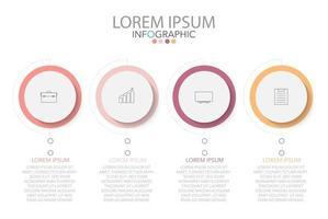 infographic sjabloon in 4 stappen sjabloon voor diagram grafiek presentatie en grafiek vector