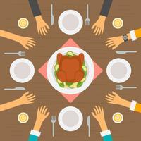 Uitstekende mensen die bij Restaurantvectoren eten