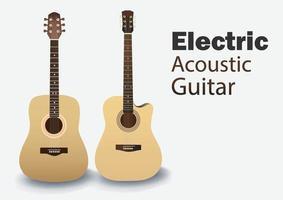 akoestische gitaar om in een band te spelen vector