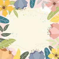schoonheid bloemen achtergrond vector