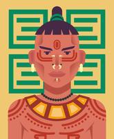 Inheemse mensen illustratie