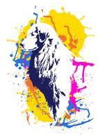 Abstracte hond vectorillustratie