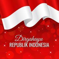 Indonesië Pride vlag achtergrond vector