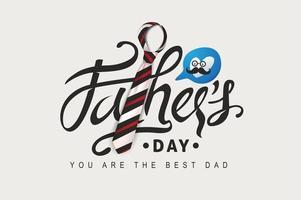 gelukkige vaders dag wenskaart achtergrond vector