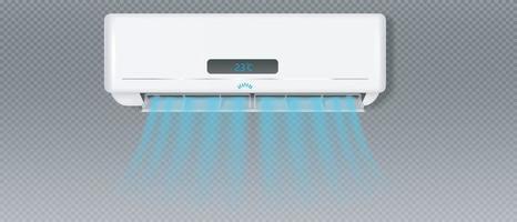 airconditioner met koude wind effect vector eps 10