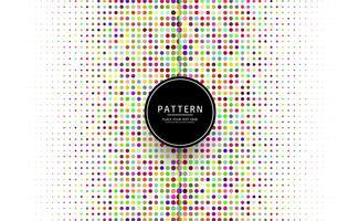 Prachtige kleurrijke stippen patroon vector