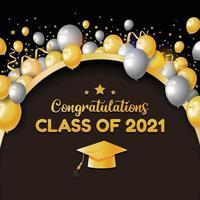 gefeliciteerd klasse van 2021 achtergrond vector