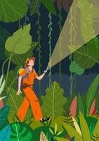 Jungle Explorers Vector Illustratie